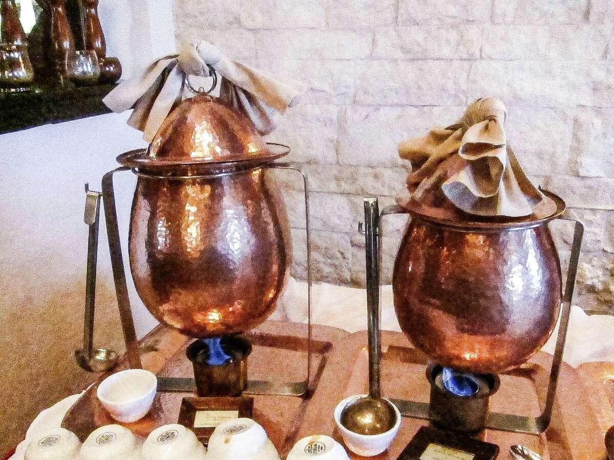 Menudo and Pozole pots at Pico's Sunday brunch.