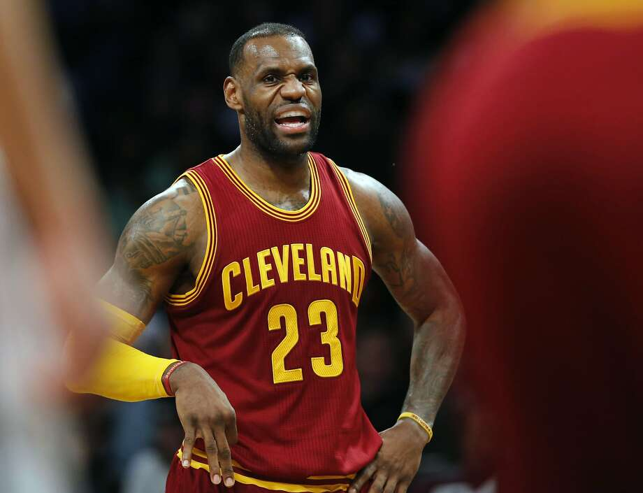 Cleveland Cavaliers forward LeBron James (23) talks to his teammates in the second half of an NBA basketball game against the Brooklyn Nets, Wednesday, Jan. 20, 2016, in New York. The Cavaliers defeated the Nets 91-78. (AP Photo/Kathy Willens) Photo: Kathy Willens, Associated Press