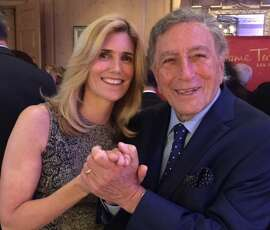 Susan Benedetto and Tony Bennett, at fundraising party for statue