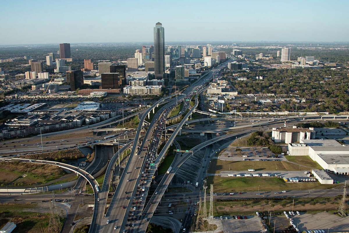 An aerial view of the U.S. 59 / Loop 610 interchange which is slated for a $287 million reconstruction project is scheduled to begin in late 2017 with a completion date in 2021.