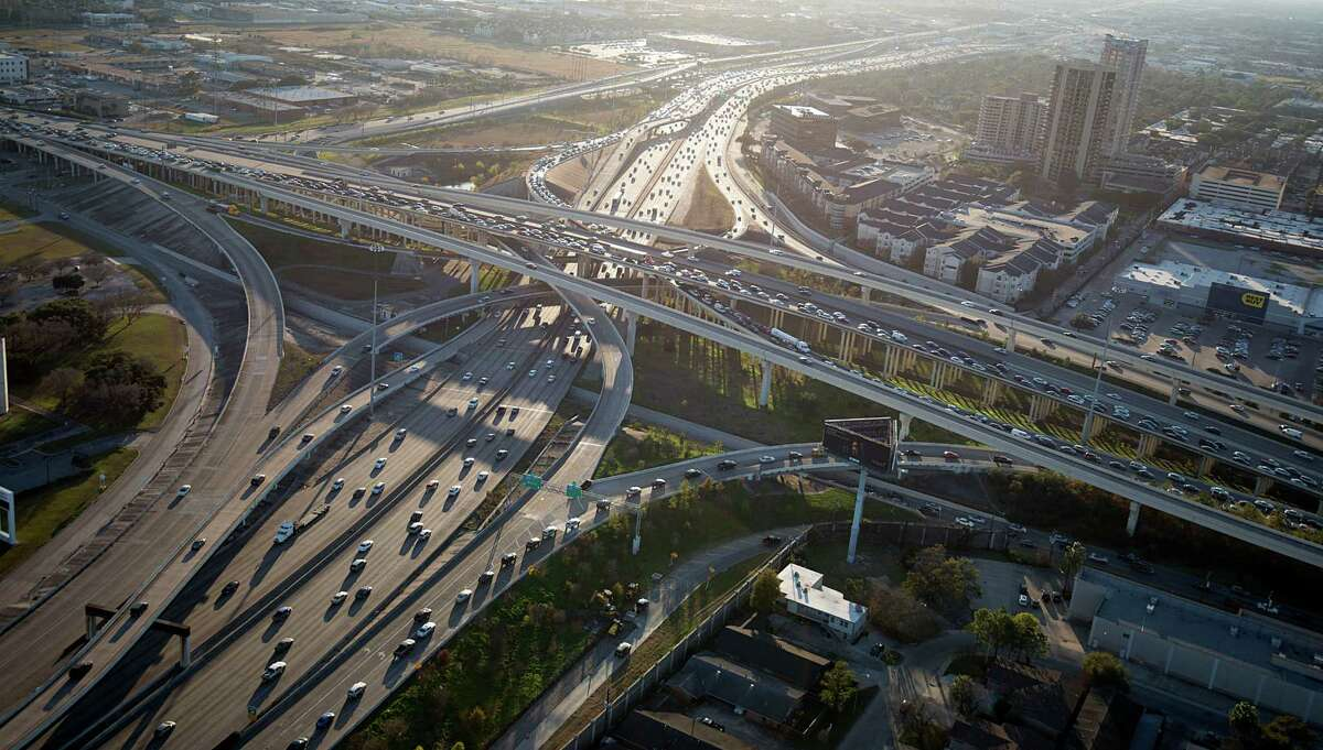An aerial view of the U.S. 59 / Loop 610 interchange in 2014. The interchange will be rebuilt, starting later this year.