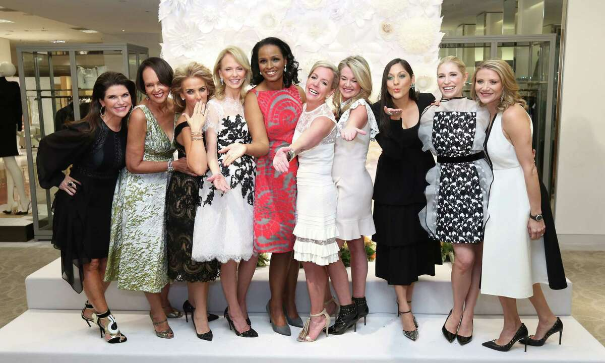 The 2016 Houston Chronicle Best Dressed honorees, from left, Laura Davenport, Gayla Gardner, Mary Tere Perusquia, Susan Sarofim, Winell Herron, Rosemary Schatzman, Millette Sherman, Sippi Khurana, Isabel David and Stephanie Cockrell