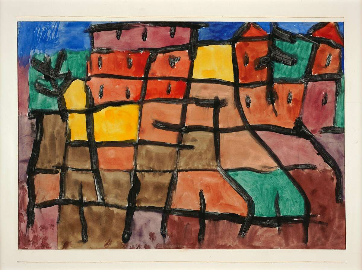 Paul Klee, Untitled (1940); watercolor and paste on paper; 7 7/8 x 11 1/2 in. 88.513.A_01_b01, 6/3/09, 1:58 PM, 8C, 7500x9105 (0+300), 125%, Custom, 1/25 s, R87.3, G64.5, B73.3