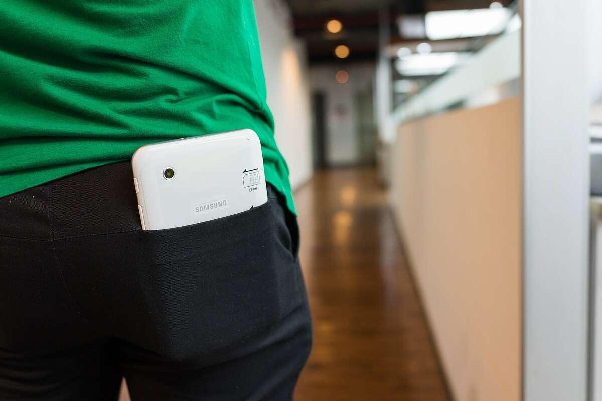 tablet in back pocket