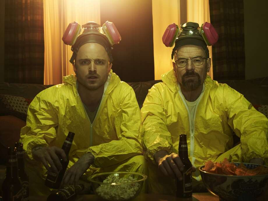 """Breaking Bad (Netflix): There's an argument to be made that """"Breaking Bad,"""" the story of a mild-mannered chemistry teacher who becomes a meth kingpin, is the greatest television show ever. Watch for yourself and decide. (Warning: the first couple of episodes are quite violent and disturbing, but the series falls into a groove soon after, and you won't be able to turn it off.) Photo: Frank Ockenfels/AMC"""