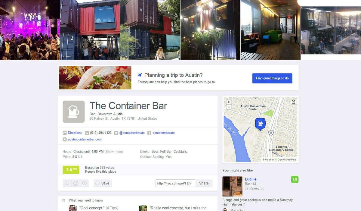 20.The Container Bar 90 Rainey Street Austin, Texas, 78701