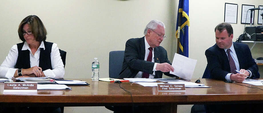 The Board of Selectmen approved nearly $5 million in bonding for non-recurring capital projects Wednesday. Photo: Genevieve Reilly /Hearst Connecticut Media / Fairfield Citizen