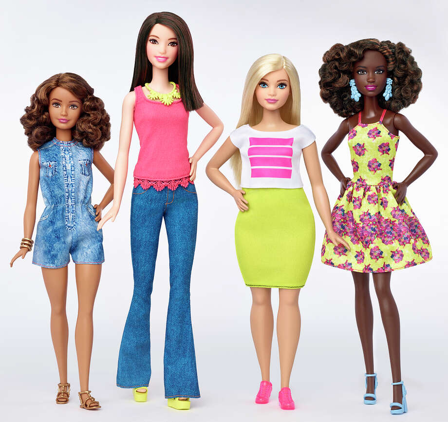 Body diversityThis photo provided by Mattel shows a group of new Barbie dolls introduced in January 2016. Mattel, the maker of the famous plastic doll, said it will start selling Barbies in three new body types: tall, curvy and petite. She'll also come in seven skin tones, 22 eye colors and 24 hairstyles. Photo: Associated Press / Mattel