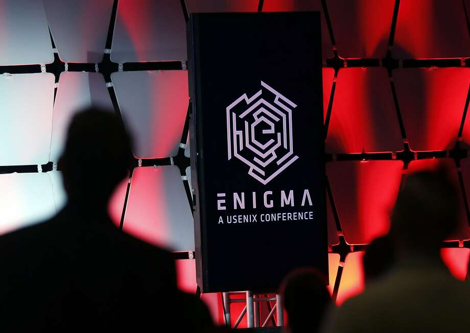 The Enigma conference logo in San Francisco, California, on Wednesday, Jan. 27, 2016. Photo: Connor Radnovich, The Chronicle