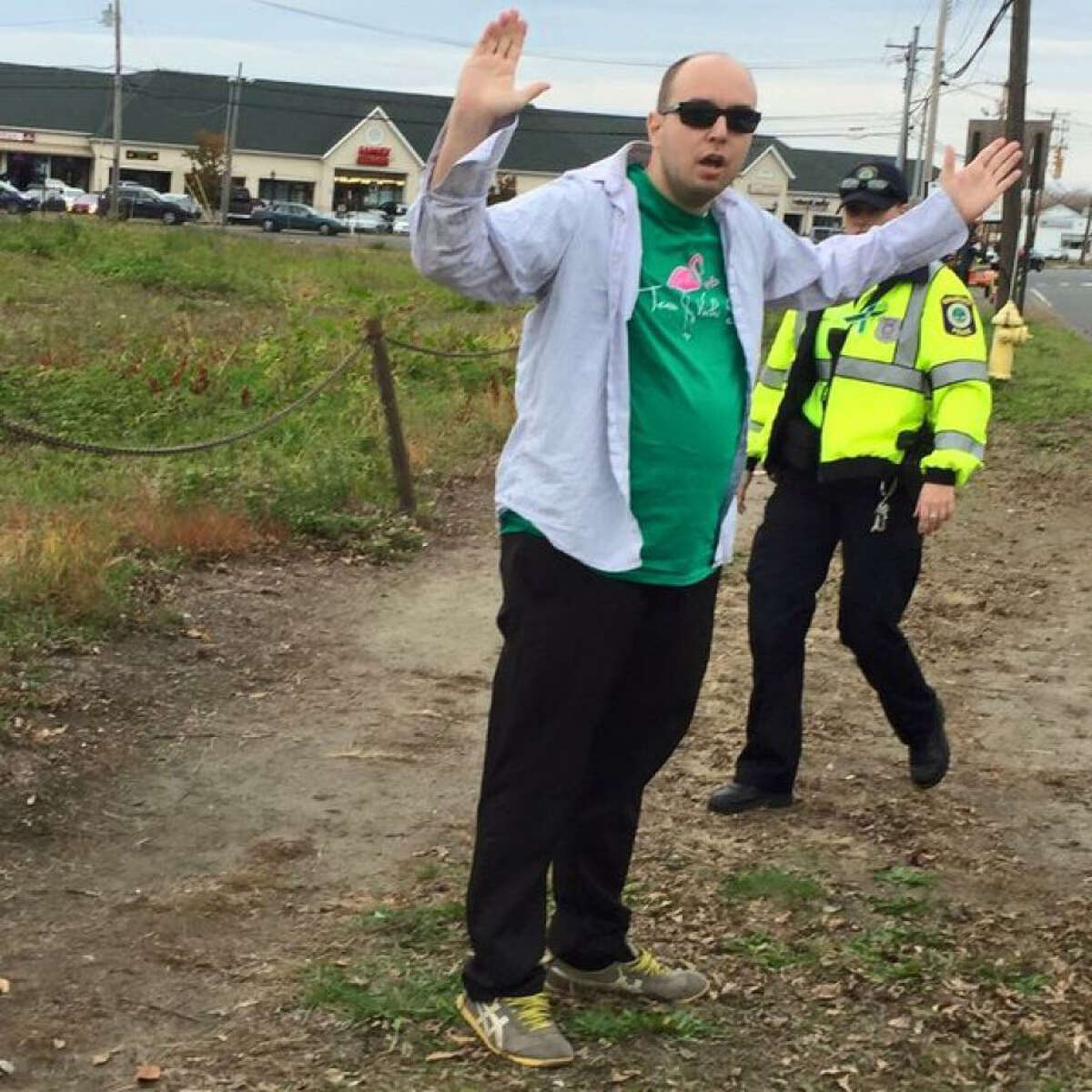 Matthew Mills, a self-proclaimed truther/journalist is charged with trying to disrupt the annual charity race in Stratford, Conn. that honors murdered Sandy Hook teacher Victoria Soto. Mills, 32, of Brooklyn, N.Y., applied for accelerated rehabilitation in Superior Court in Bridgeport, Conn. on Tuesday, Nov. 17, 2015.