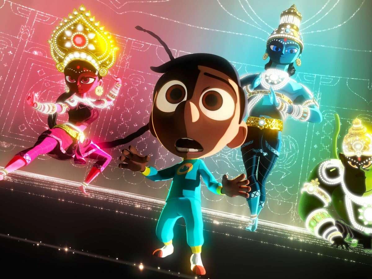 "Pixar Image from ""Sanjay's Super Team"""