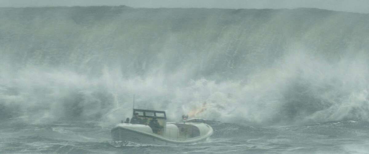 """In this image released by Disney shows a scene from, """"The Finest Hours,"""" a heroic action-thriller based on the true story of the most daring rescue in the history of the Coast Guard. (Disney via AP) ORG XMIT: NYET120"""