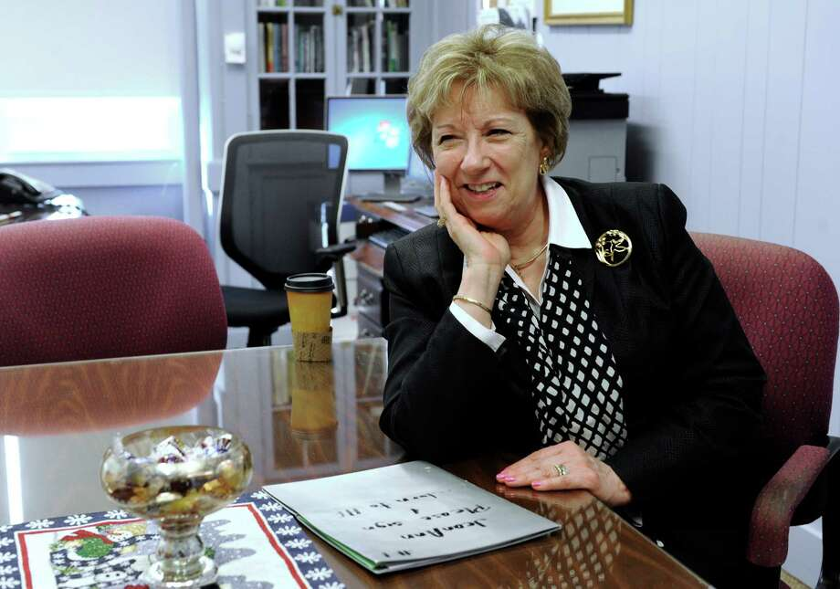 Dr. Collins will be taking over as superintendent after JeanAnn Paddyfote (above) presents the annual school budget to the board on Jan. 14, essentially inheriting the budget process from her. Photo: Carol Kaliff / Hearst Connecticut Media / The News-Times