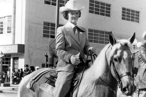 Mary Nan West photographed in February 1985, the year she became the first woman to lead the San Antonio Stock Show and Exposition