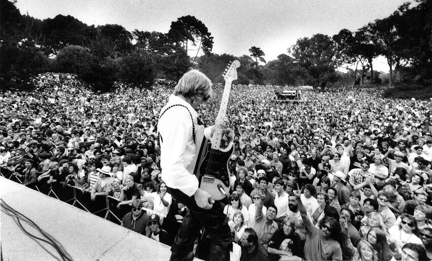 Paul Kantner at a free concert in Golden Gate Park Photo dated 06/19/1985 Photo ran 06/24/1985, p.2