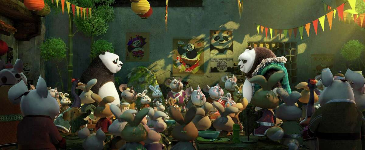 """This image released by DreamWorks Animation shows a scene from """"Kung Fu Panda 3."""" (DreamWorks Animation via AP)"""