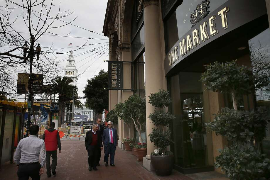 One Market restaurant, which is directly next to Super Bowl City at the foot of Market Street. Photo: Michael Macor, The Chronicle