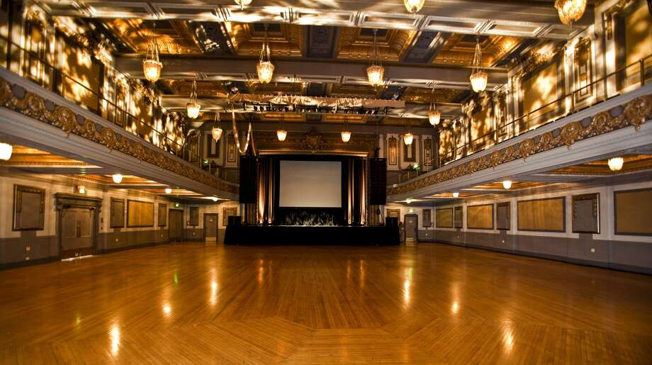 The Regency Ballroom, set up as it would be before a concert.
