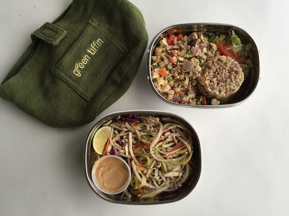 """At Green Tiffin, lunch is delivered in reusable containers, or """"tiffins."""" Photo: Amanda Gold"""