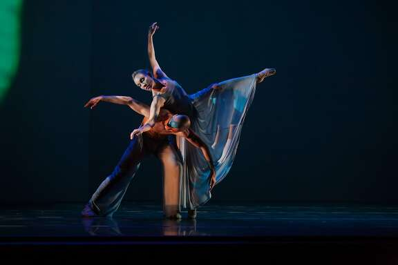 Jamielyn Duggan and Raphael Boumaila dance in Mark FoehringerÕs evocative work Sunken Cathedral, reprised at Mark Foehringer Dance Project|SF's 20th-anniversary celebration on Sunday, January 31, at ODC Theater.  Photo by Matt Haber