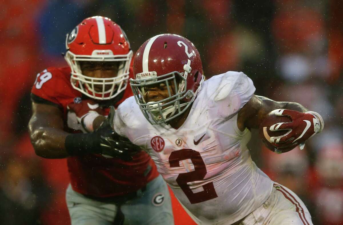 Derrick Henry, Alabama Height/weight: 6-3, 247 40-yard dash: 4.52,  The Heisman Trophy winner is another in a long line of Alabama backs who were great in college but haven't been great in the NFL. Perhaps Henry will change that. He's bigger than a linebacker and runs with power. He's strong and explosive. Breaks a lot of tackles. Gets a lot of yards after contact. Plays with a defensive player's mentality. Has a lot of wear and tear on him after carrying such a load in college. Should go in the second round but might sneak into the first.