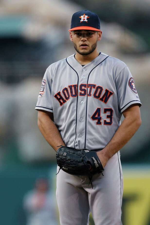 Houston Astros pitcher Lance McCullers on the mound during a baseball game against the Los Angeles Angels in Anaheim, Calif., Saturday, Sept. 12, 2015  (AP Photo/Christine Cotter) Photo: Christine Cotter, FRE / FR170214 AP