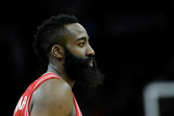 Houston Rockets guard James Harden (13) during the second half of an NBA basketball game against the San Antonio Spurs, Wednesday, Jan. 27, 2016, in San Antonio. (AP Photo/Eric Gay)
