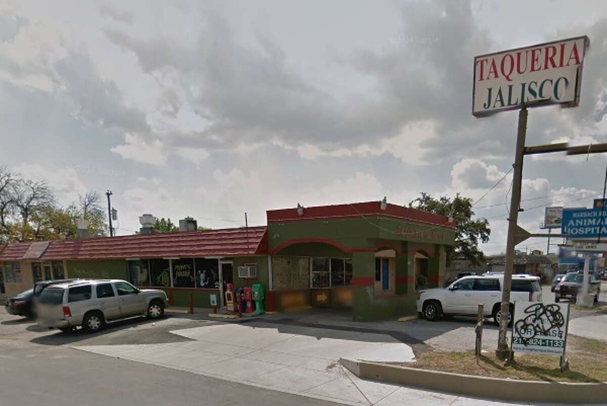 Taqueria Jalisco #7: 7504 Marbach Road, San Antonio, Texas 78227Date: 01/22/2016 Demerits: 14Highlights: Food found unprotected from cross contamination (raw meats stored above cooked foods), food found stored in non-food grade bags, establishment must use a thin probe thermometer for cooling/cooking/holding/reheating