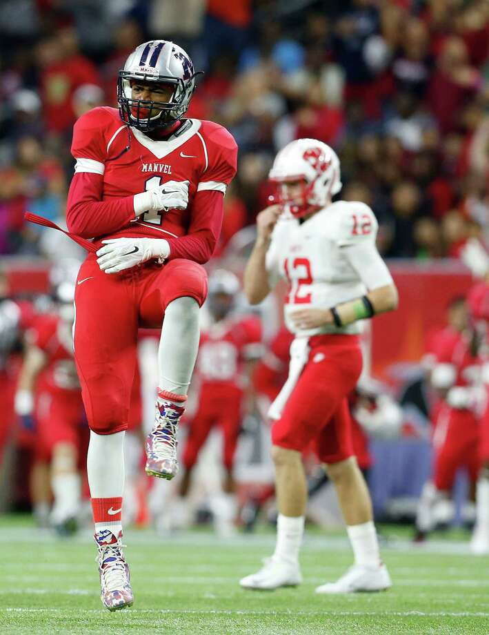 Manvel defensive back Deontay Anderson will be an early newsmaker on signing day, announcing his decision at 9:30 a.m. on ESPNU. Photo: Karen Warren, Staff / © 2014 Houston Chronicle