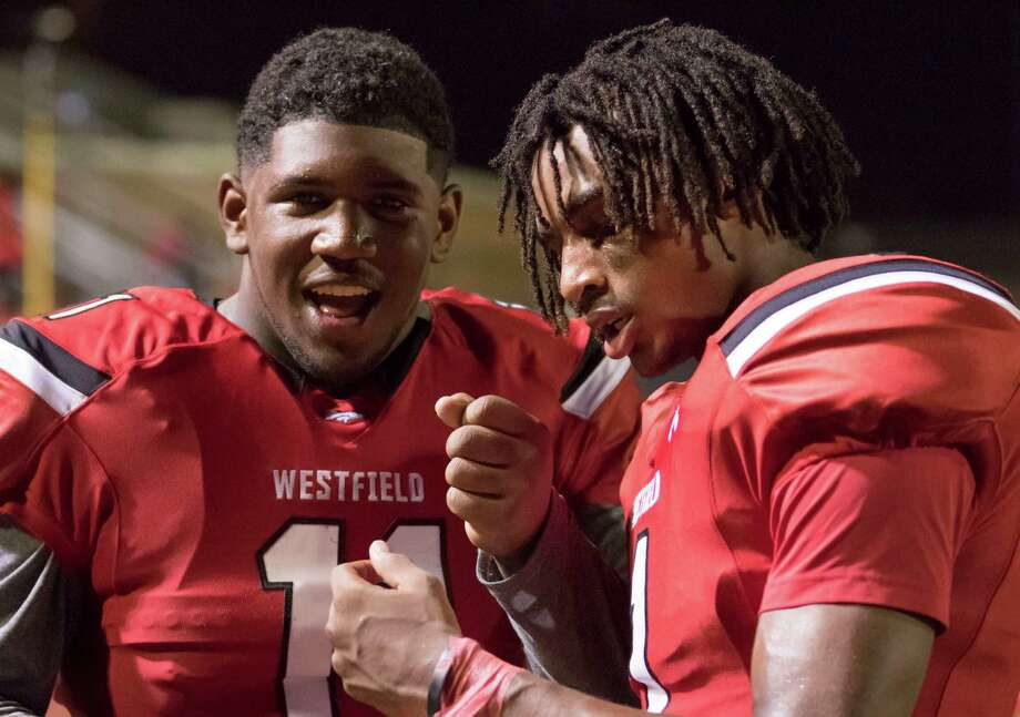 Westfield's Ed Oliver (left) and Tyrie Cleveland are two of the top 100 Greater Houston-area recruits. Browse through the photos to see the complete list of the Top 100 and where they are planning on going to school. Photo: Joe Buvid, Freelance / © 2015 Joe Buvid