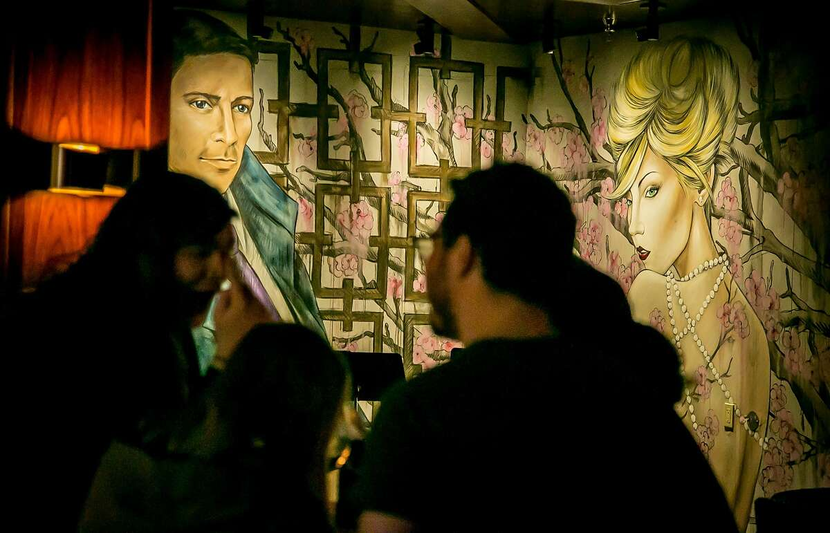 The murals at Mr Tipple's in San Francisco, Calif., are seen on Thursday, January 28th, 2016.