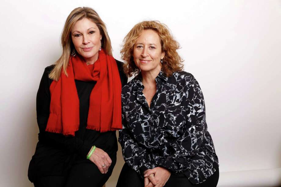 "Producer Maria Cuomo Cole, left, and director Kim A. Snyder pose for a portrait to promote the film, ""Newtown"", at the Toyota Mirai Music Lodge during the Sundance Film Festival on Sunday, Jan. 24, 2016, in Park City, Utah. (Photo by Matt Sayles/Invision/AP) Photo: Matt Sayles / Associated Press / Invision"