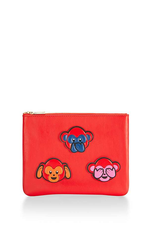 rebecca minkoffs chinese new years sticker set cowhide leather pouch 85 comes embellished with - Chinese New Year Emoji