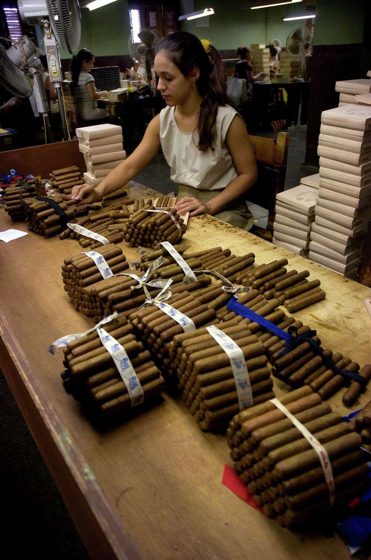 The Partagas cigar factory is just behind the Capitolo in downtown Havana. U.S. residents can bring $100 worth of cigars back.