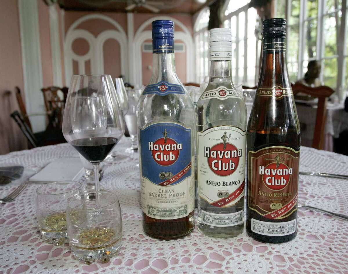 A tasting of Cuban Havana Club rums in Nassau, The Bahamas. (John VanBeekum/Miami Herald/MCT)