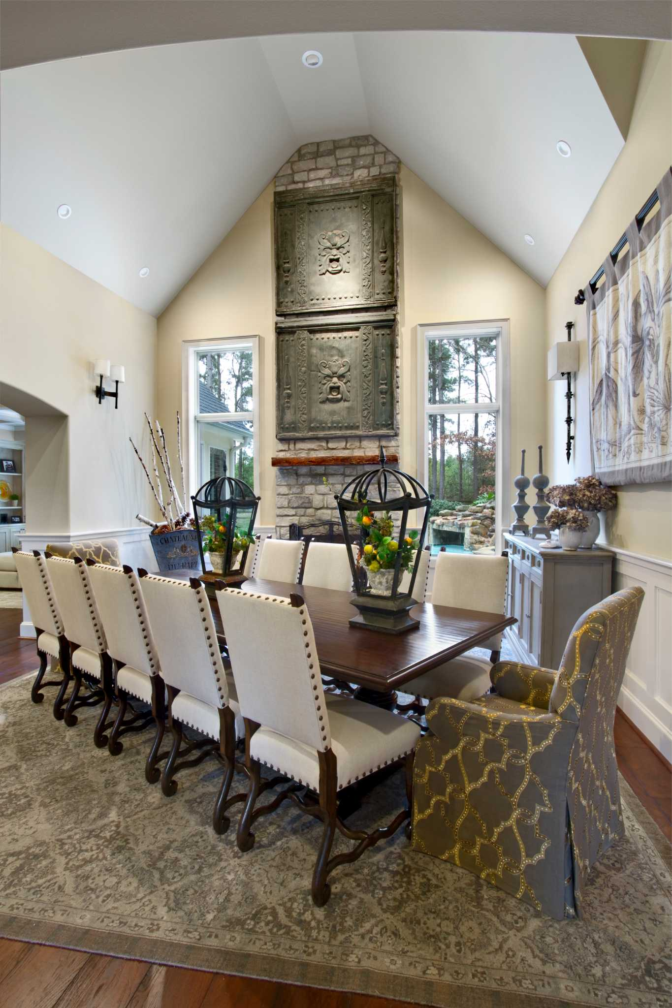 Our Spring Dining Room: Spring Couple's Updated Home Balances Old And New, Dark