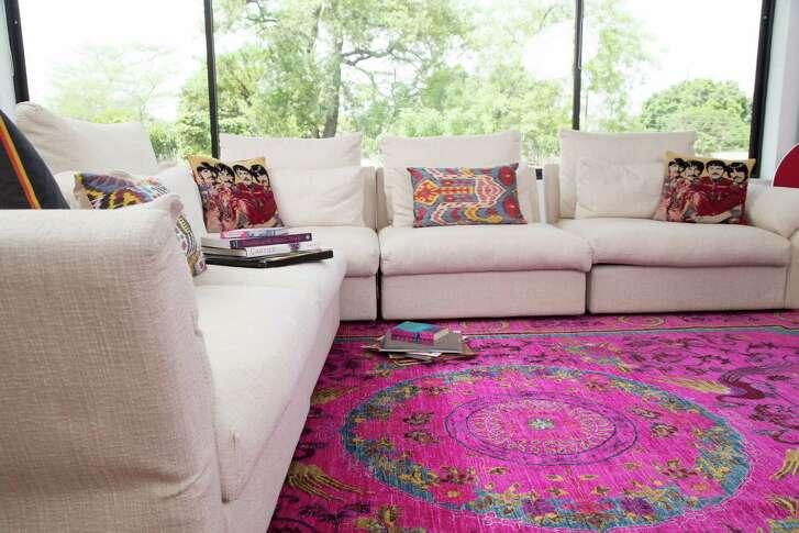 Pink suzani rug, $6,857
