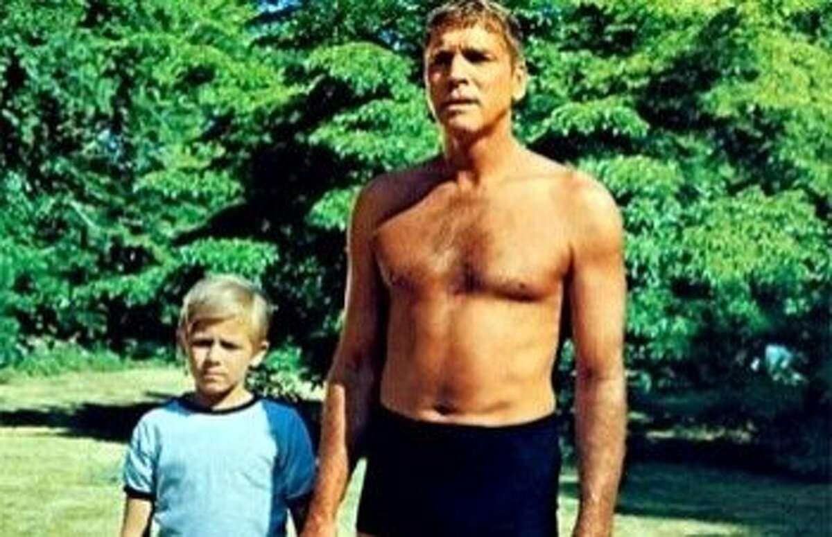 """Burt Lancaster in """"The Swimmer."""""""