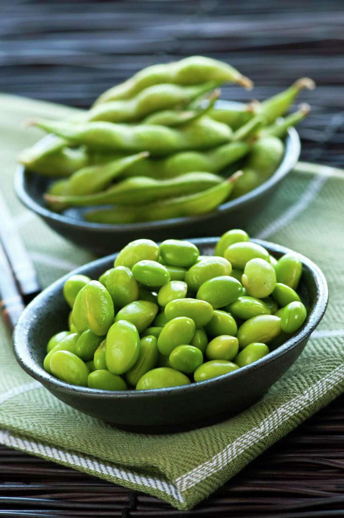 Edamame is full of protein, fiber, iron, phosphorus, magnesium, thiamin, copper, folate, manganese and vitamin K.