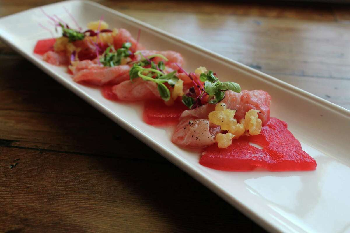 Crudo appetizer at Starfish from 2014.