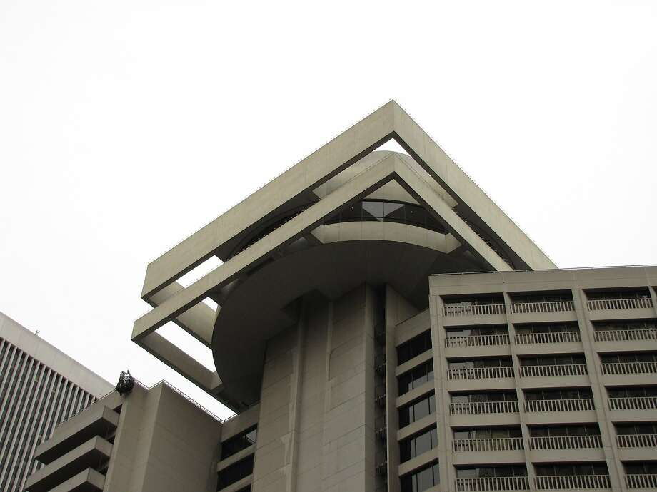 The Hyatt Regency Hotel opened in 1973 as part of Embarcadero Center. It's still visually dazzling, in a futuristic sort of way, but the early fanfare has faded even as the waterfront around it -- home to this week's Super Bowl City -- has grown in popularity. Photo: John King, The Chronicle