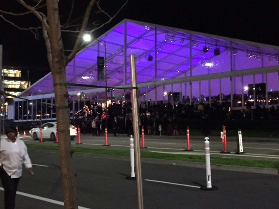 Dinner tent, across Oxford Street from museum