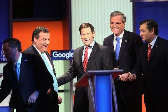 The candidates at debate: What we need are bobblehead versions