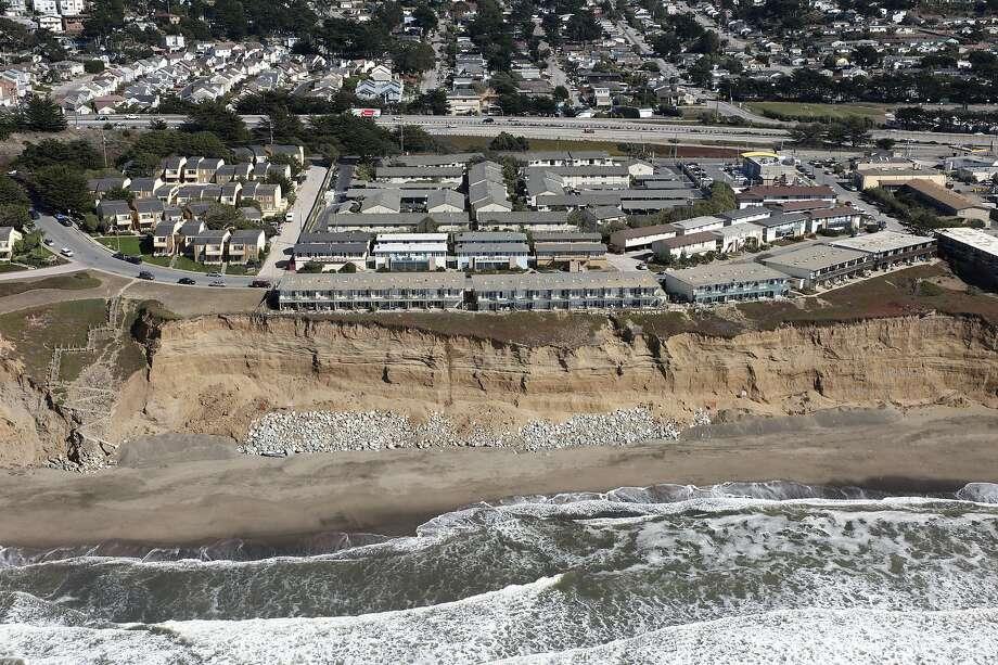 The Esplanade Apartments in Pacifica are seen in 2009. Photo: California Coastal Records Proje, CaliforniaCoastline.org