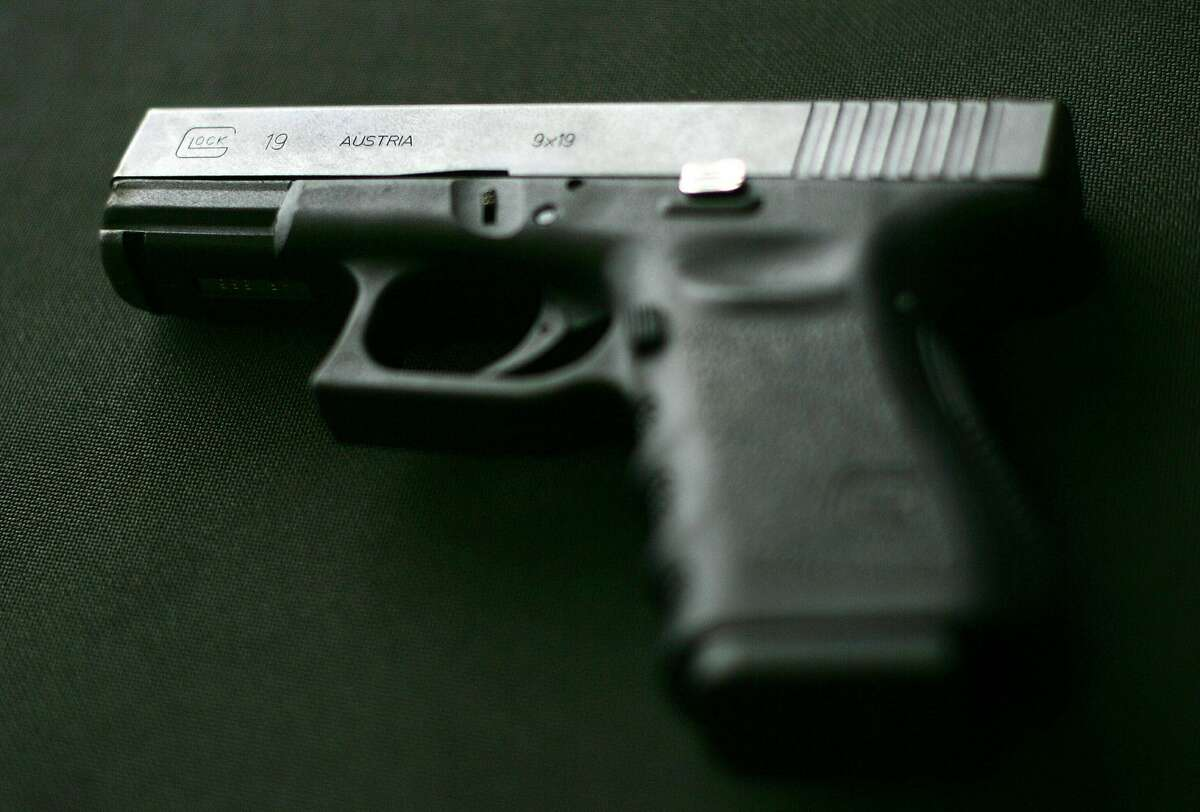(FILES)A Glock 19 9MM pistol, is pictured in this April 17, 2007 photo in Centerville, Virginia. Just days after a gunman wielding a Glock 9mm handgun went on a shooting rampage in Tucson, Arizona killing six and wounding more than a dozen people, includi
