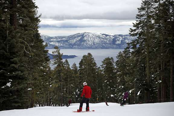 A snowboarder at Northstar California in Truckee, Calif., on Thursday, January 25, 2016.