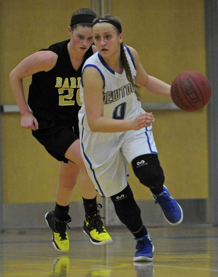Girls basketball game between Joel Barlow and Newtown high schools on Friday night, January 29, 2016, at Newtown High School, in Newtown, Conn. Photo: H John Voorhees III / Hearst Connecticut Media / The News-Times