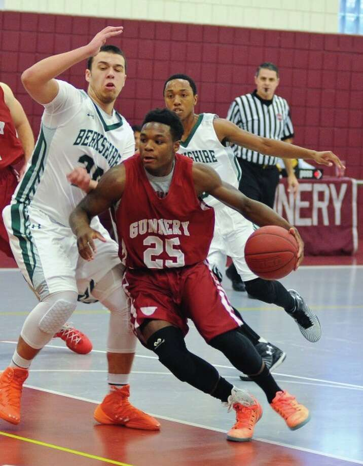 FILE PHOTO: The Gunnery's Demani Spence (25) scored his 1,000th career point in Monday's 74-56 loss at Millbrook. Photo: Contributed Photo / Contributed Photo / News-Times Contributed