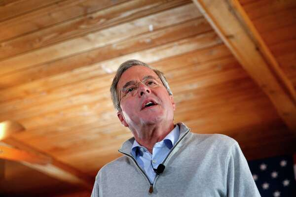 Republican presidential candidate, former Florida Gov. Jeb Bush speaks during a campaign event at Greasewood Flats Ranch, Friday, Jan. 29, 2016 in Carroll, Iowa. (AP Photo/Paul Sancya)