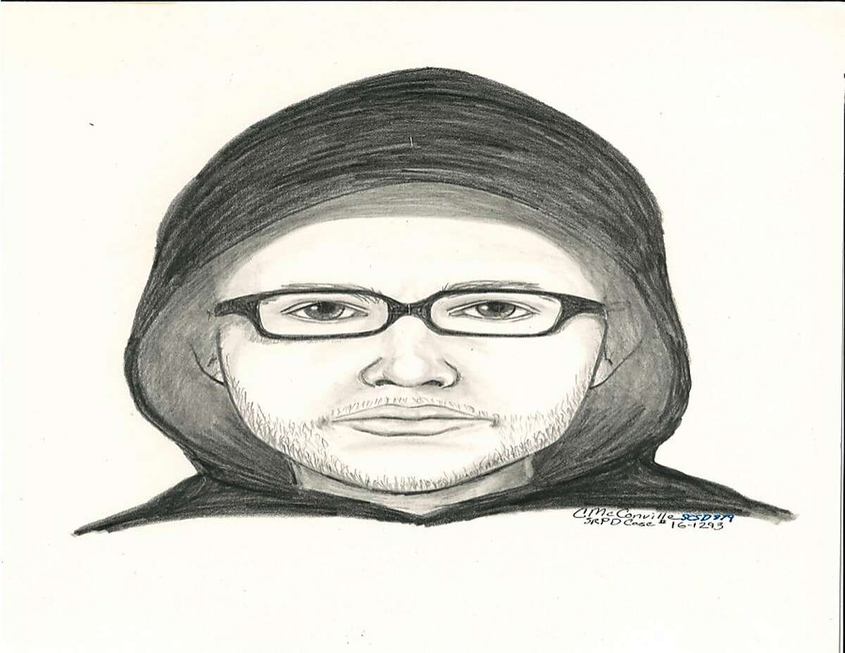 A sketch of the man suspected of sexually assaulting an 11-year-old girl in Santa Rosa Wednesday.